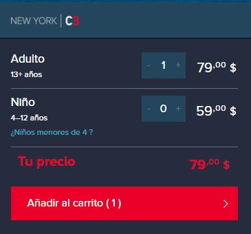 Compra o mira los precios de la New York C3